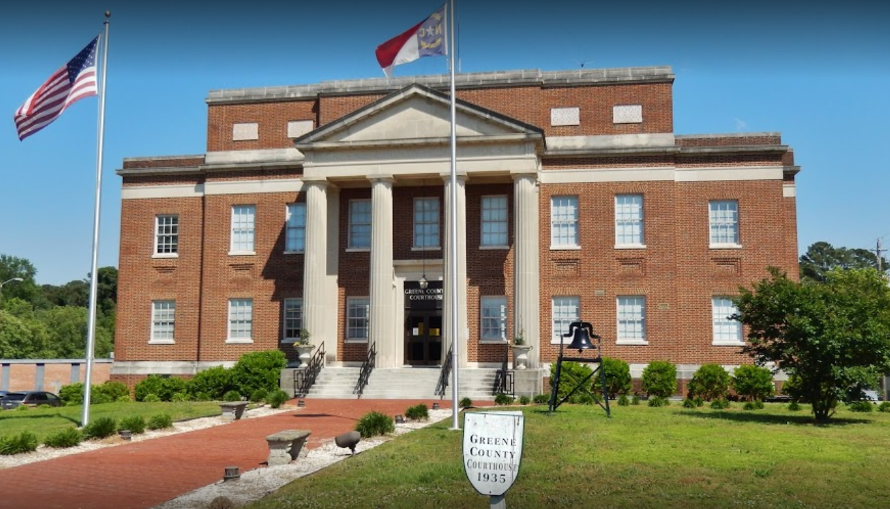 Greene County Traffic Courthouse in Snow Hill, NC