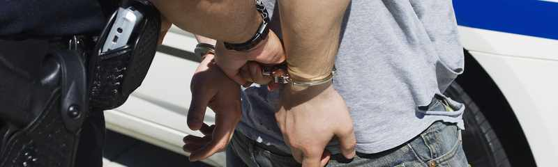 Police Officer Marijuana Handcuffs